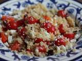 Recipe Couscous with Tomatoes, Peppers, Cran Raisins and Feta Cheese