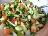 Recipe Kachumber: finely diced salad