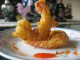 Recipe Camaron rebosado (battered prawns with sweet and sour sauce)