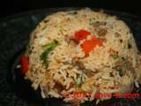 Recipe Minced lamb & potatoes fried rice