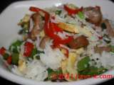Recipe Chicken sausage and green peas fried rice