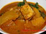 Recipe Pumpkin and salt fish curry
