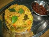 Recipe Oats upma with mixed vegetables