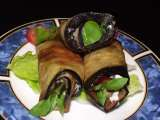 Recipe Eggplant rolls with tomato, garlic and herbs