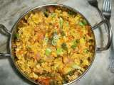 Recipe Spicy egg scramble with vegetables