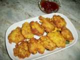 Fried sweet corn nuggets