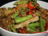 Recipe Potatoes & french beans stir- fried with sesame seeds