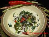 Recipe Red amaranth/spinach (bayam) in coconut sauce