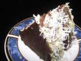 "Chocolate cake with coconut and rum ""mmm, yum!"""
