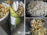 Recipe Indian street food - savoury puffed rice in paper cones