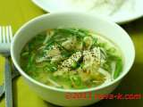 Recipe Chicken and bean sprouts soup