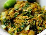 Recipe Mustard greens (sawi putih) in masala gravy