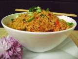 Recipe Szechwan fried rice (veg)