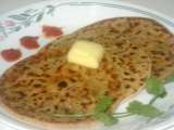 Recipe Methi ( fenugreek leaves) thepla