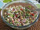 Recipe Sprouted bean and peanut salad