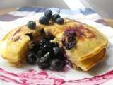 Recipe Blueberry pancakes.