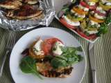 Recipe Grilled balsamic chicken and tomato mozzarella salad