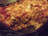 Recipe Baked rice and beans with ground pork