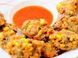 Mushroom and vegetable fritters