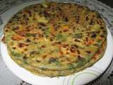 Aloo methi paratha/ indian potato and fenugreek flat bread
