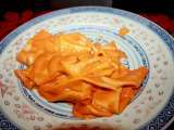 Recipe Homemade noodles with vodka sauce