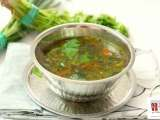 Recipe Coriander leaves rasam (tangy peppery indian soup)
