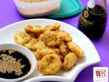 Recipe Crispy fried japanese tofu with soya sesame dip