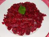 Recipe Beetroot sabzi / curry