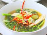 Recipe Chinese chicken soup with watercress