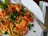 Recipe Shrimp with linguine and peanut butter sauce