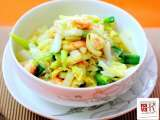 Recipe Stir fried chinese cabbage with prawns