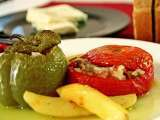 Recipe Gemista: a greek recipe for stuffed tomatoes and bell peppers