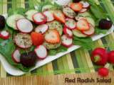 Recipe Red radish salad