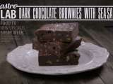 Recipe Dark chocolate brownies with sea salt