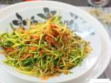 Recipe Pucuk kacang goreng cili (pea shoots stir fried with chilli)