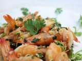 Recipe Lemon butter garlic prawns