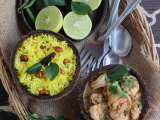 Goan prawn curry w/ lemon rice
