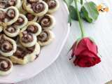 Recipe Nutella puffed hearts - valentine's day - video recipe !