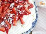 Recipe Pavlova with strawberries - video recipe !