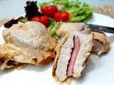 Recipe Baked cheesy chicken fillets with ham, finger lickin' good!