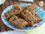 Granola energetic bars - video recipe!