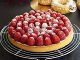 Recipe Raspberry tart with almond cream
