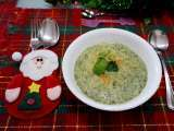Recipe Minty cream of broccoli soup for christmas ( 薄荷西兰花奶油汤 )