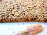 Recipe Maple oatmeal nut granola bars:the pretty feed