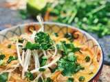 Recipe Thai coconut curry chicken soup (30 minute recipe): the pretty feed