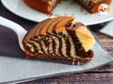 Recipe Zebra cake (steps and video)