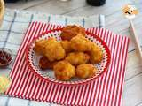 Recipe Macaroni fritters with bacon and cheese