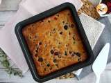 Recipe White chocolate brownie with red berries (Blondie)