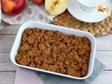 Recipe Vegan and gluten free apple crumble