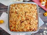 Recipe Mirabelle plum cake with almonds